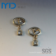 Oval Pin Buckles with Pendant and Drops for Shoes Bags and Garments